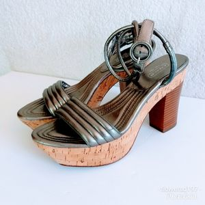 Coach Metallic Heels Size 8